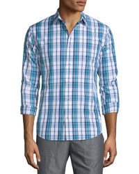 Vince Plaid Long Sleeve Sport Shirt Navy