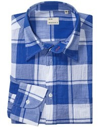 Mason S Italian Cotton Plaid Sport Shirt