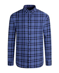 Bugatchi Shaped Fit Check Button Up Shirt