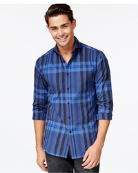 Vince Camuto Shortshirt Plaid Long Sleeve Shirt