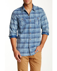 Artisan de Luxe Silas Plaid Long Sleeve Slim Fit Shirt