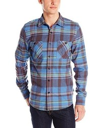 Threads 4 Thought Slim Fit Plaid Long Sleeve Button Front Shirt