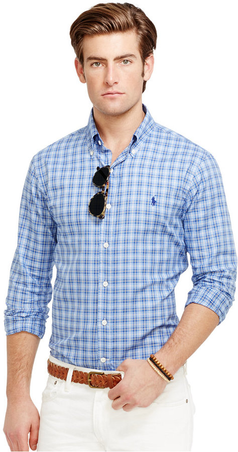 ... Polo Ralph Lauren Slim Fit Plaid Oxford Shirt ... c26ae70113062