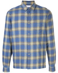 John Elliott Sly Straight Hem Plaid Shirt