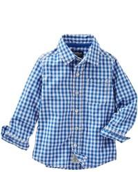 Osh Kosh Toddler Boy Oshkosh Bgosh Woven Large Plaid Long Sleeve Button Down Shirt
