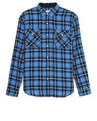 What goes around comes around cleveland plaid sport shirt medium 4527