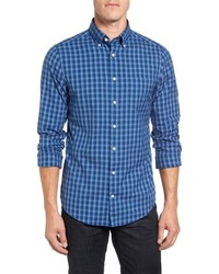 Gant Wind Blown Extra Trim Fit Plaid Oxford Sport Shirt