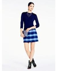 Blue Plaid Mini Skirt
