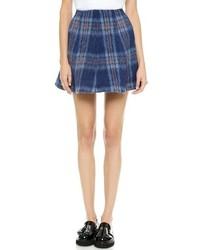 MSGM Plaid Flared Skirt