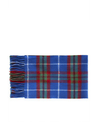Topshop Checked Pattern Scarf Knitted From Pure Lochcarron Lambswool Renowned For Its Lightweight Cosy Feel Long Wrap Around Style With Fringe Trim 100% Lambswool Hand Wash Cold