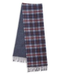 Saks Fifth Avenue Collection Of Johnstons Plaid Merino Wool Cashmere Scarf
