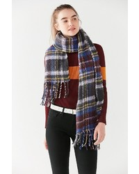 Urban Outfitters Fuzzy Plaid Scarf