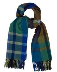Plaid wool blend scarf medium 5413596