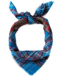 Saint laurent yves vintage tartan print scarf medium 177973