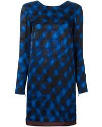 Kenzo neon plaid shift dress medium 183145
