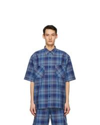 Acne Studios Blue Plaid Boxy Shirt
