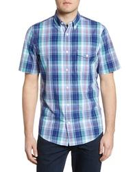 Nordstrom Men's Shop Nordstrom Shop Regular Fit Plaid Short Sleeve Shirt