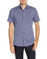 Nordstrom Men's Shop Nordstrom Shop Tech Smart Ivy Regular Fit Check Short Sleeve Shirt