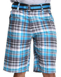 Blue Plaid Shorts for Men   Men's Fashion