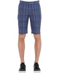 Brooks Brothers Plaid Linen Chino Shorts