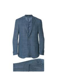 Corneliani Plaid Single Breasted Suit