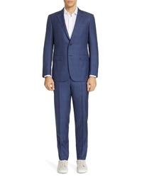 Ermenegildo Zegna Trofeo Classic Fit Plaid Suit