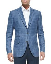 Men s Blue Jackets by Hugo Boss   Men s Fashion   Lookastic.com 739a8cfa6f7f