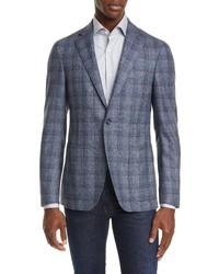 Canali Fit Plaid Wool Sport Coat