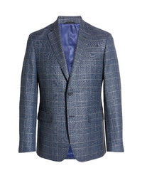 JB Britches Plaid Wool Blend Sport Coat