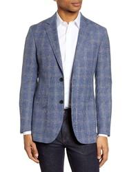 Nordstrom Men's Shop Trim Fit Plaid Wool Blend Sport Coat