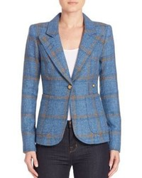 Wool plaid blazer medium 789477