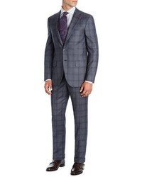 Isaia Shadow Plaid Super 130s Wool Two Piece Suit