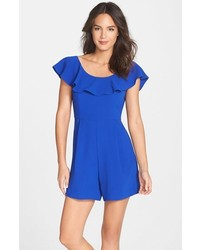 French Connection Aro Ruffle Neck Crepe Romper