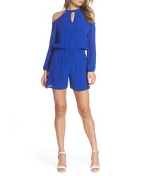 Fraiche by J Keyhole Cold Shoulder Romper