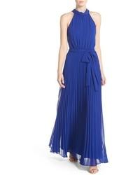 Pleated chiffon maxi dress medium 3753219