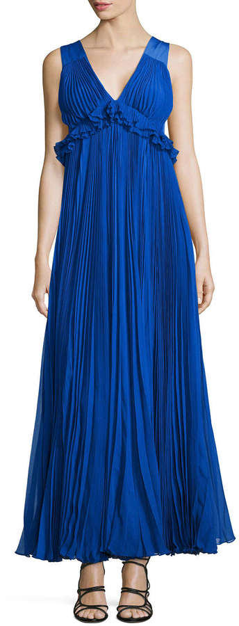 Rebecca Taylor Empire Waist Pleated Chiffon Gown | Where to buy ...