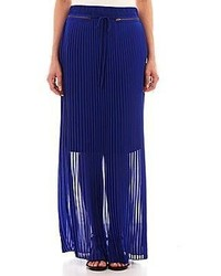 Worthington zipper detailed pleated maxi skirt tall medium 76177