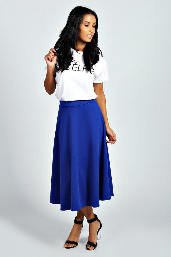 92cbc1111 Boohoo Arianna Plain Full Circle Midi Skirt, $20 | BooHoo ...