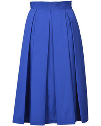 Choies blue pleated high waist midi skirt medium 72126
