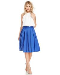 Dailylook a line pleated midi skirt in royal blue xs l medium 222857
