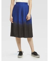 DKNY Dip Dye Pleated Midi Skirt