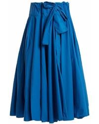 Maison Rabih Kayrouz Gathered Waist Paper Taffeta Midi Skirt
