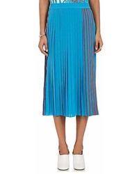 Gauchere Gauchere Pleated Silk Satin Midi Skirt