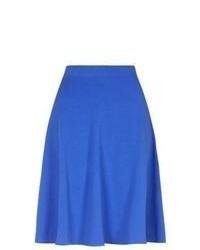 New Look Blue Midi Skater Skirt