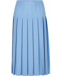Pleated crepe midi skirt blue medium 6988614