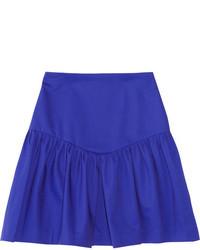 Sandro Journaliste Ruffled Cotton Blend Mini Skirt