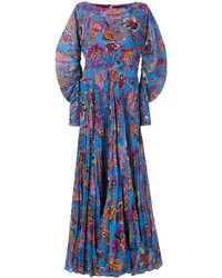 Etro Floral Print Pleated Dress