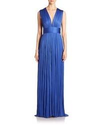 Rita pleated silk chiffon gown medium 797443