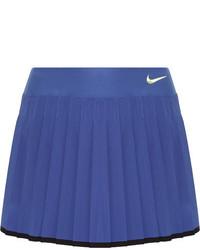 Nike Victory Pleated Dri Fit Stretch Tennis Skirt Blue