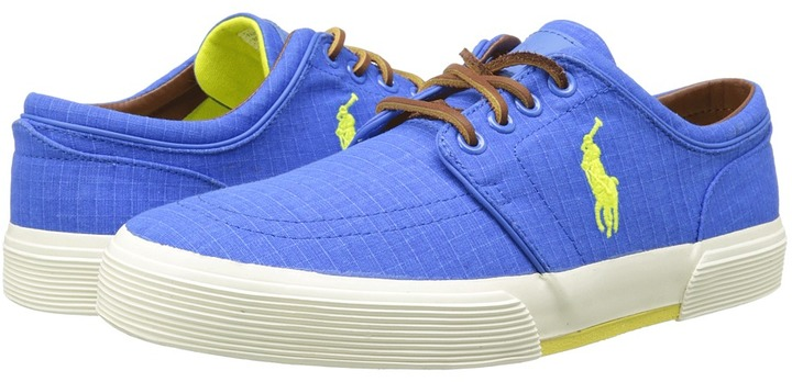 Faxon Low Lace Up Casual Shoes. Blue Plimsolls by Polo Ralph Lauren
